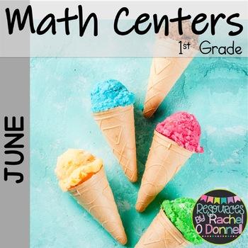 June Summer Math Centers First Grade