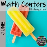 June Summer Math Centers Kindergarten