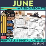 June / Summer Mega-Writing Packet{Task Card Prompts, Posters, & Writing Process}
