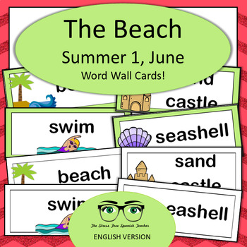 June / Summer Word Wall Cards! English version