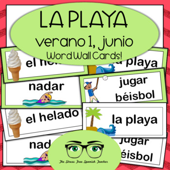 June / Summer Word Wall Cards! Spanish version