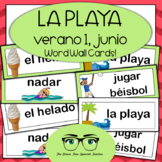 Spanish Summer Word Wall Cards! Spanish version for el Verano June Junio