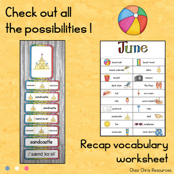 June - Summer - Word Wall Words and Puzzle Activity - Vocabulary
