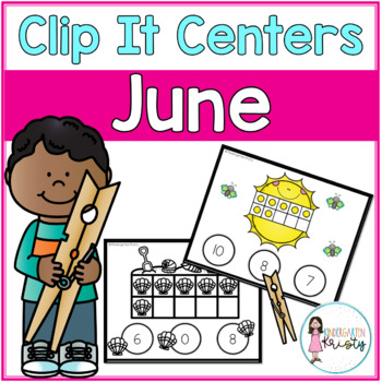 June Tens Frame Clip It Centers