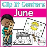 June Tens Frame Clip It Centers