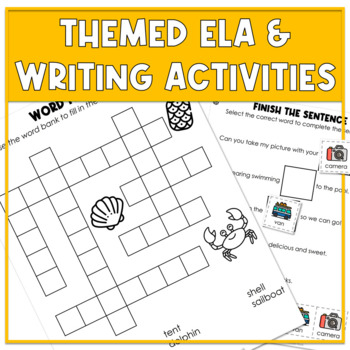 Summer Themed Adapted Unit for Autism Units or Early Elem. (Math, ELA & Writing)
