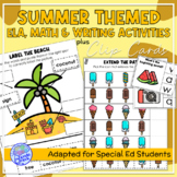 Summer Themed Adapted Unit for ELA, Writing and Math in SpEd or Autism Units