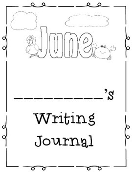 June Themed Home or Classroom Writing Journal
