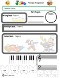 June Themed Piano Lesson Assignment Sheet