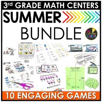 Summer Third Grade Math Centers BUNDLE
