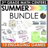 Summer Third Grade Math Centers BUNDLE