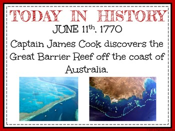 June Today in History Bell Ringers (EDITABLE)
