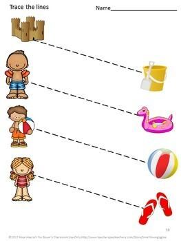 June Cut and Paste Bundle Special Education Fine Motor Kindergarten Autism