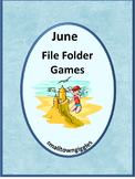 June Math and Literacy File Folder Games Summer Review