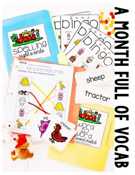 June Vocabulary Unit- for Students with Special Needs