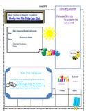 June Weekly Homework Sheet