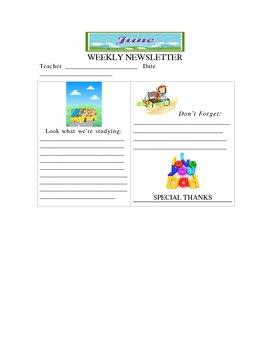 June Weekly Newsletter Template