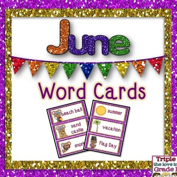 June Word Cards