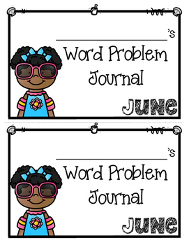 June Word Problems Journal Booklet