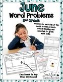 June Word Problems Second Grade Common Core Math Aligned
