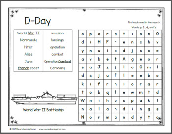 June Word Search Packet