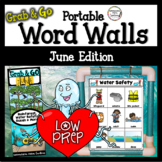 June Word Walls: Ocean, Rainforest, Water Safety, Father's