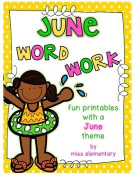 June Word Work