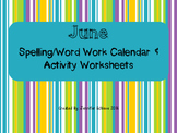 June Word Work Activities