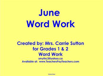 June Word Work: SMARTNotebook