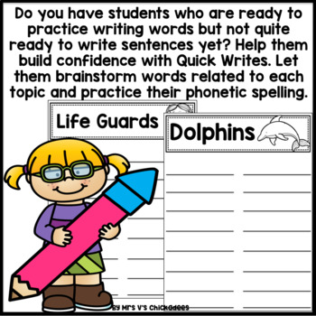 June Writing Activity: Brainstorming Organizer and List Making Paper