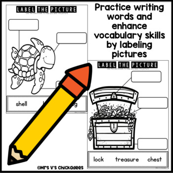 June Writing Activity: Labeling Pictures Using a Word Bank