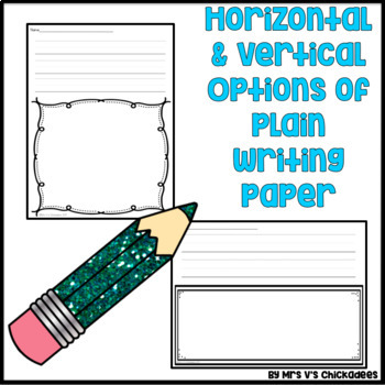 June Writing Activity: Thematic Writing Paper