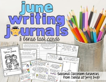June Writing Journal and Task Cards
