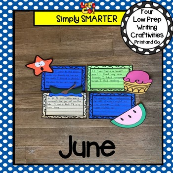 June Writing Cut and Paste Craftivities