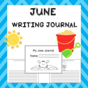 June Writing Activities Journal