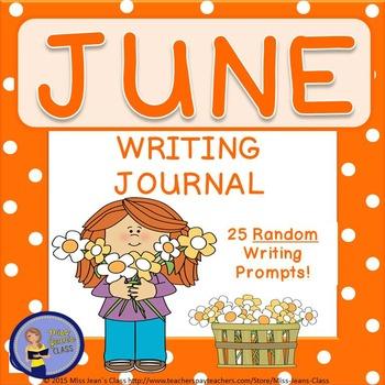 June Daily Writing Journal