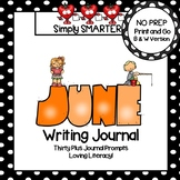 June Writing Journal:  NO PREP Journal Prompts