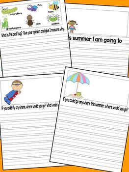 June Writing Journal with 1st and 2nd grade Common Core State Standard Prompts