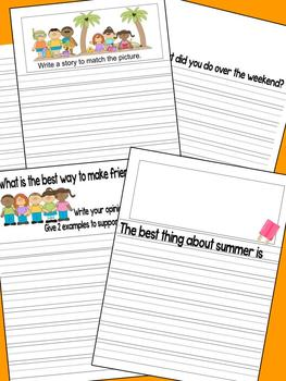 June Writing Journal with 1st & 2nd grade CCSS Prompts