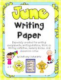 June Writing Paper