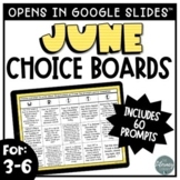 June Writing Prompts   Digital Writing Choice Boards
