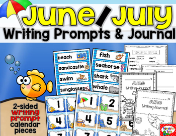 June Writing: Prompts, Journal, & Crafts