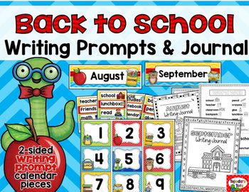 Back to School Writing: Prompts, Journal, & Crafts