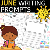 June Writing Prompts - PRINT & LEARN - no prep journal prompts
