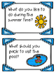 June Writing Prompts, Pages and Vocabulary Cards