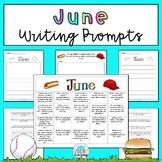June Writing Prompts: Printable and Digital Google Slides