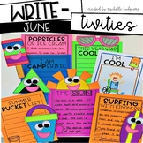 June Writing Prompts | Summer Writing Activities | Bucket