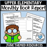 June Book Reports Summer Reading Logs Elementary