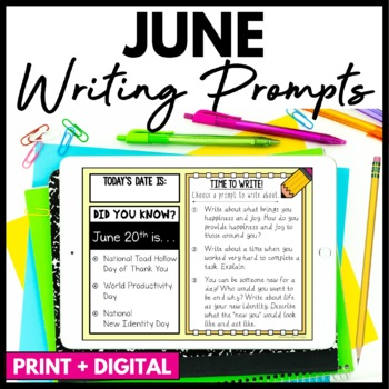 June Writing Prompts and Journal