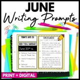 June Writing Prompts and Journal - Distance Learning